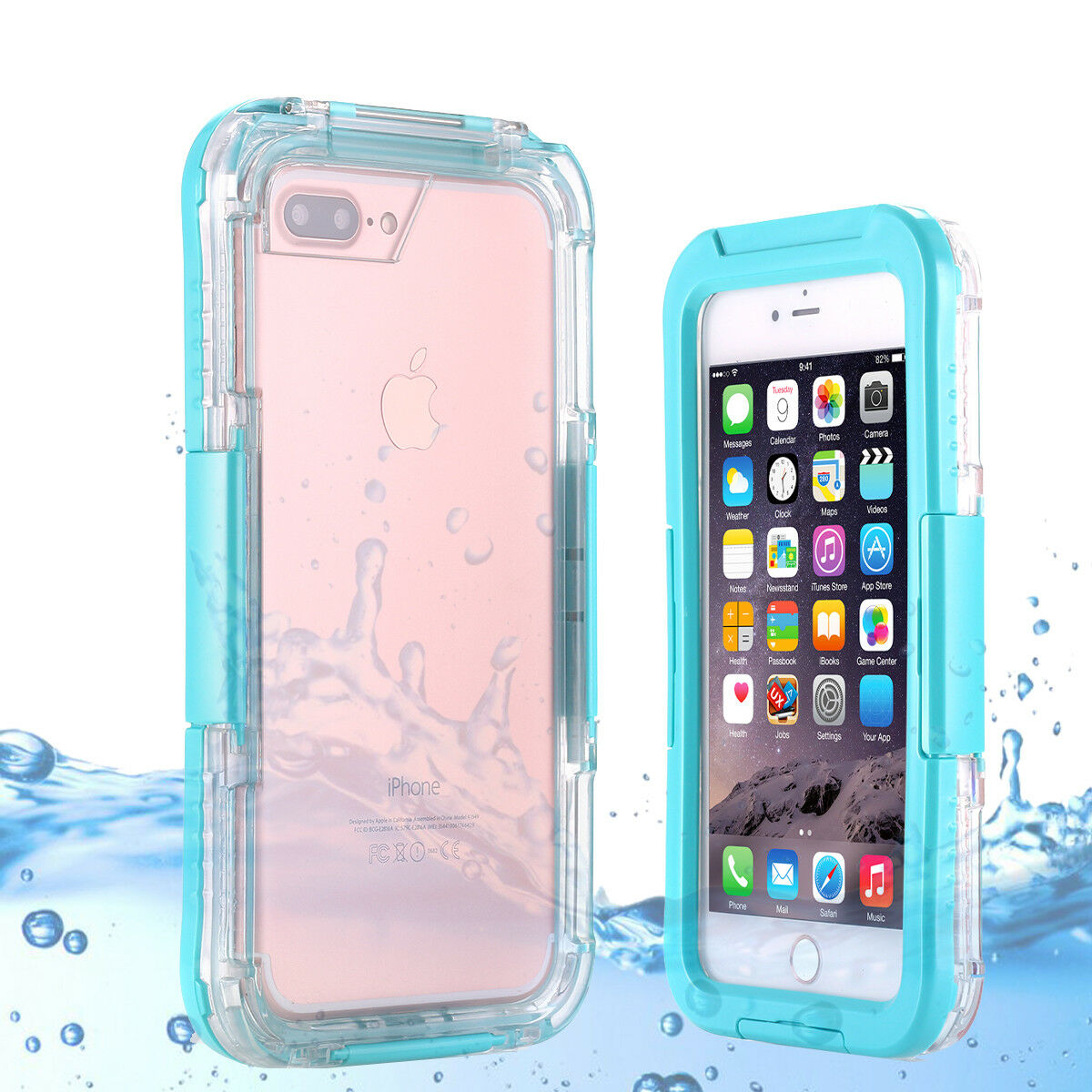 iPhone XS Max XR 8 7 6S Plus Waterproof Snow Dirt Shockproof Diving Case Cover