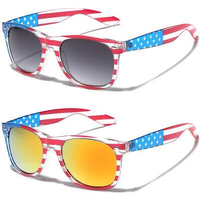 New USA Flag Patriotic 4th of July Sunglasses Men Women Costume Fashion (Country Sunglasses)