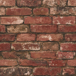 Distinctive and Rustic Brick Slate Stone Wall Effect Wallpaper 10m Roll *NEW*