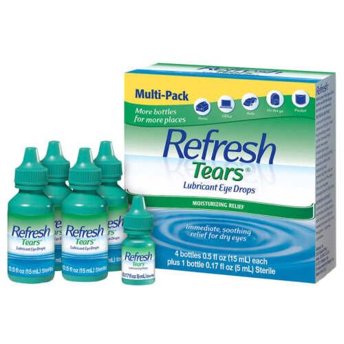 New Refresh Tears Lubricant Eye Drops 4+1 Bonus Multi-Pack 65 ml EXP 1123!