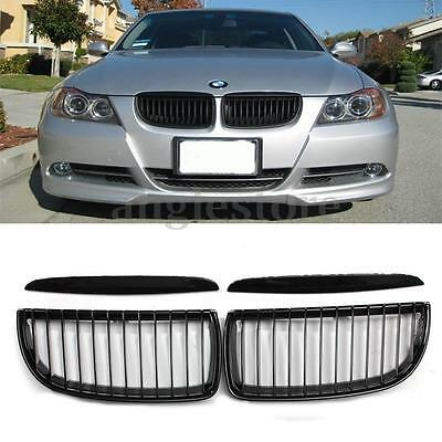 Front Kidney Grille Grill Gloss Black For BMW E90 3-Series Sedan Wagon 05-08 US