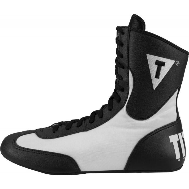 Title Boxing Speed-Flex Encore Mid-Length Boxing Shoes - Black/White