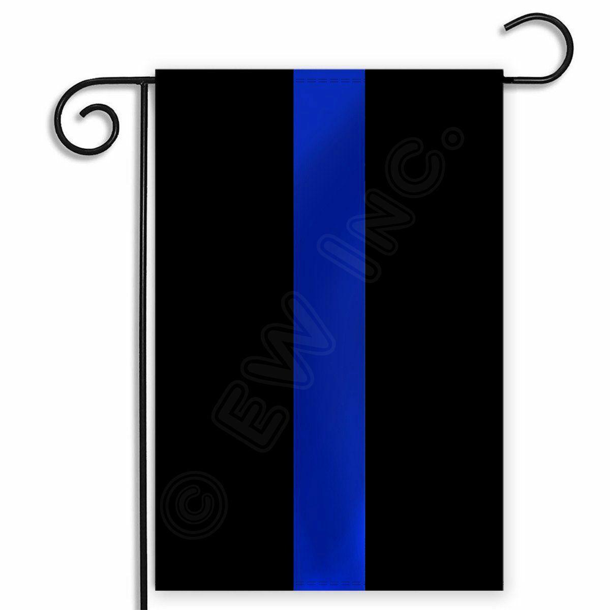 12x18 USA Thin Blue Line Police Flag 12'x18' sleeved sleeve