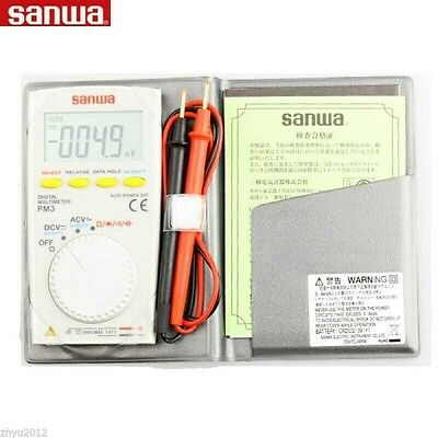 New Sanwa Pm3 Portable Mini Pocket Multimeter Digital Multimeter