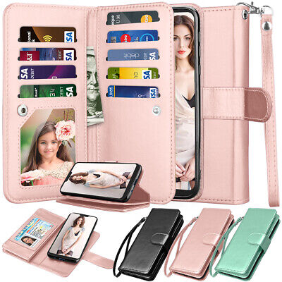 For Motorola Moto G7 Power/G7 Supra Leather Wallet Case Card Holder Stand Cover