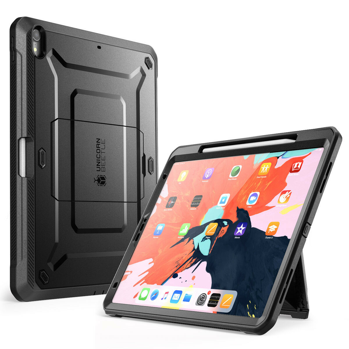 sports shoes caf11 daf5a Details about SUPCASE iPad Pro 12.9 Case Cover 2018 Support Apple Pencil  Charging w/ Kickstand