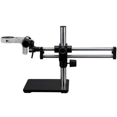 Double Steel Arm Boom Stand For Stereo Microscopes - Pin Mount 76mm Focus Block