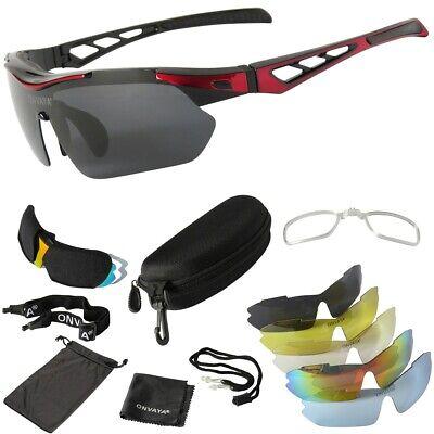 Polarisierte Sport Fahrrad Sonnenbrille Set 5 austauschbare Gläser 13tlg