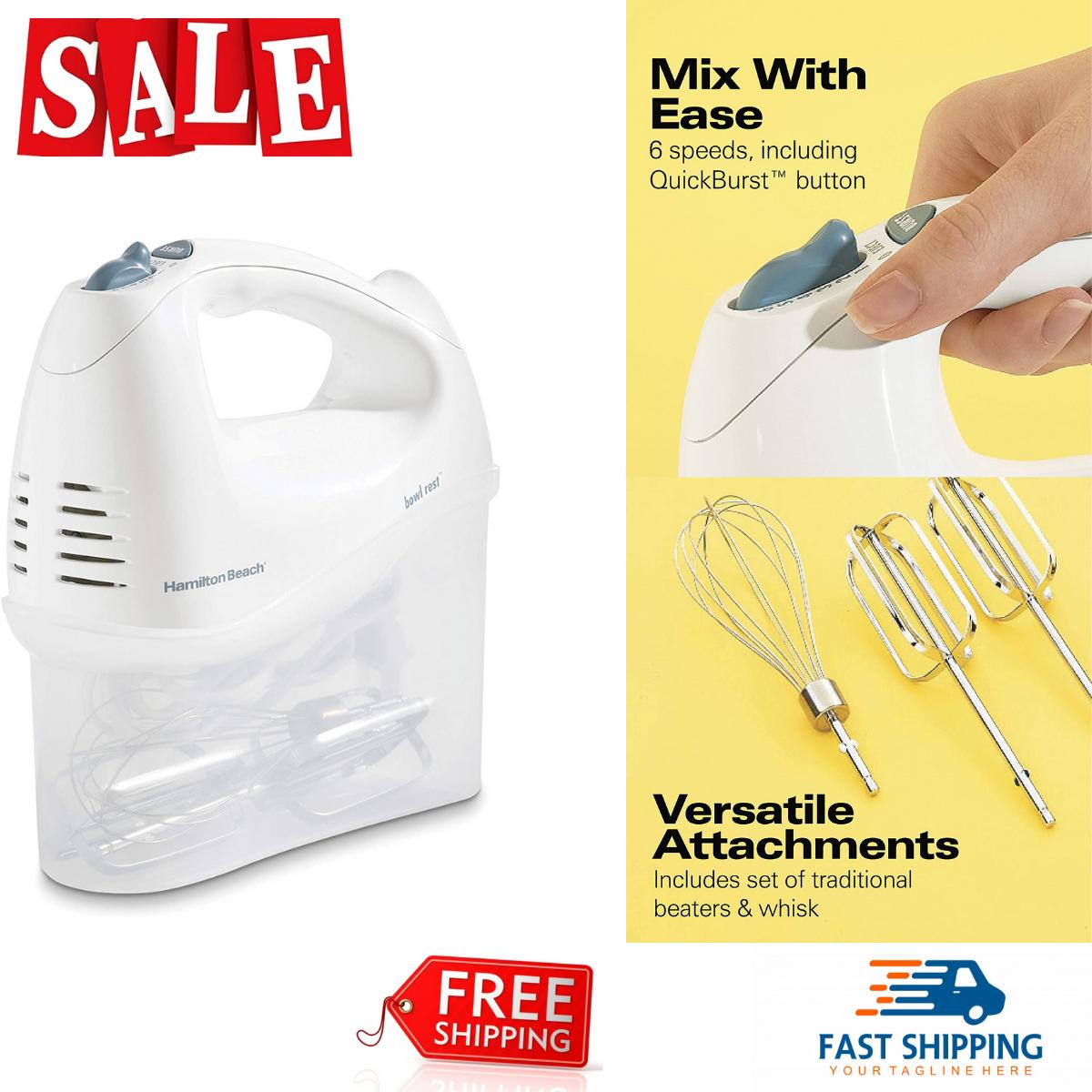 kitchenaid 62682rz 6 speed hand mixer plastic