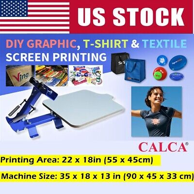 Us Stock Screen Printing Press T-shirt One Color Manual Screen Printing Machine