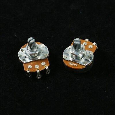 500K A&B Control Pots Split Shaft Potentiometer 15mm ,Full Size ()