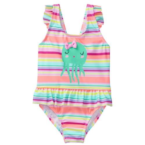 NWT Gymboree Girls Toddler Jellyfish Swimsuit 1 pc UPF 50+ 12-18-24M,2T,3T,4T,5T