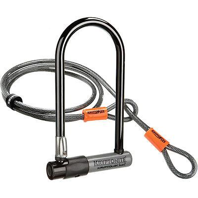 Kryptonite Series 2 Bike / Cycle D/U Lock Keyed+4 Foot Kryptoflex Cable TwinPack