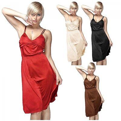 Damen Cocktail Kleid S - XL 4 Farben Gemischt Flohmarkt Groß Handel Rest Posten
