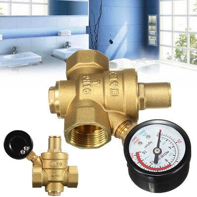 Dn20 34 Adjustable Brass Water Pressure Reducing Regulator Valves W Gauge Us