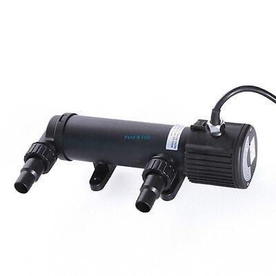 9W Pond UV Sterilizer Light Clarifier Aquarium Fish Tank Pump Filter