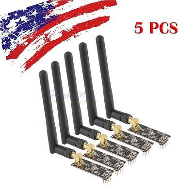 5pcs 2.4g Nrf24l01palna Sma Antenna Wireless Transceiver Communication Module