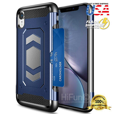 Fits iPhone Wallet Card Drop Shockproof Protective Case for Car Magnetic -