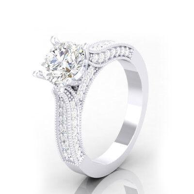 Versprechen Verlobungs Diamant Ring Weißgold-Finish 1,70 Ct Solitär Braut Stil ()
