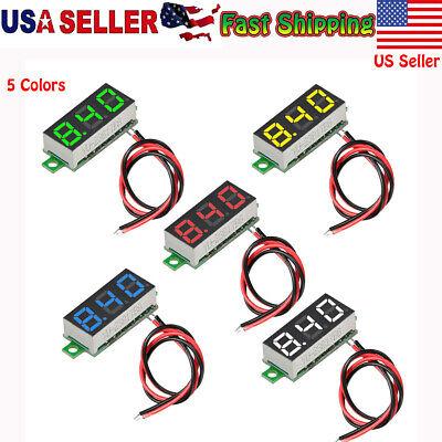5x Dc 2.4v-30v Mini Digital Voltmeter Ammeter Voltage Meter Led Amp Volt Tester