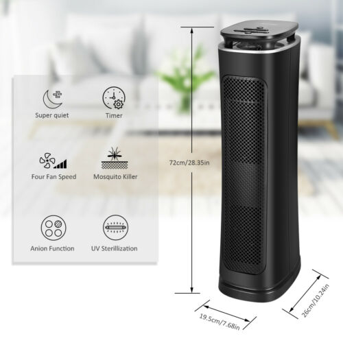 3 Stages Filtration True HEPA Air Purifier 200-230CFM CADR Timer Function US