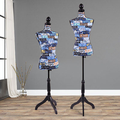Fashion Female Mannequin Torso Dress Form Display Wblack Tripod Stand Designer