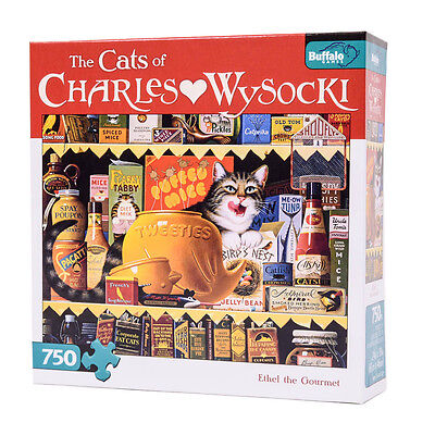 Buffalo Games Jigsaw Puzzle The Cats Of Charles Wysocki Ethel The Gourmet 750 Pc