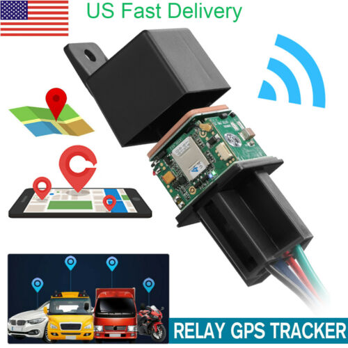 Car GPS GSM Tracker Relay-Shaped Cut Oil Remotely Mini Hidden Real-time Tracking