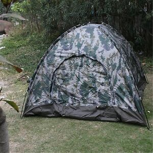 4 Person Pop Up Tent Folding Outdoor Camping Hiking Camo Camouflage Waterproof