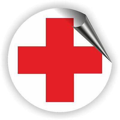 Rotes Kreuz Aufkleber Verbandskasten Medizinschrank DRK Erste Hilfe 5 - 50 cm - Rote Medizin