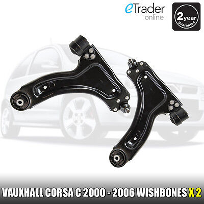 VAUXHALL CORSA C 00-06 FRONT WISHBONE SUSPENSION ARMS PAIR L&R WISHBONES ARM X 2