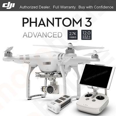 DJI Phantom 3 Advanced vision 2.7K. Included 12 Megapixel Photo HD Camera