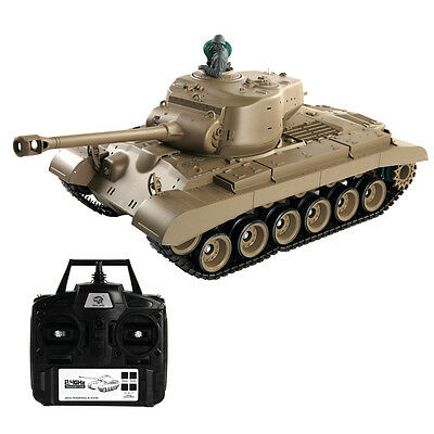 1:16 2.4G RC US M26 Pershing Battle Tank w/ Smoke & Sound Radio Remote Control