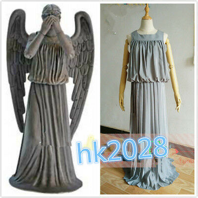 NEW Doctor Who Weeping Angel Cosplay Costume Custom-made #A.284 - Dr Who Angel Costume
