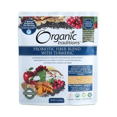 Organic Traditions Organic Smooth Move Fibre Blend with Probiotics 200g Organic