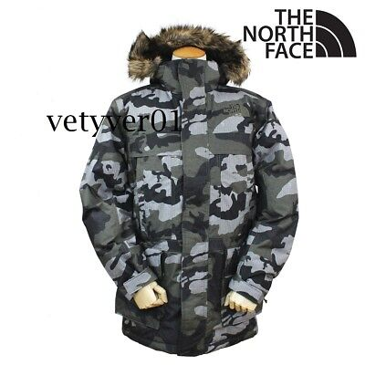 THE NORTH FACE Military McMurdo II Hooded Quilted 550 Down Jacket/Parka GunCamo