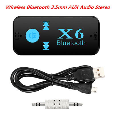 Bluetooth 4.0 Home Car Audio Stereo Receiver 3.5mm AUX Receiver Adapter Mic