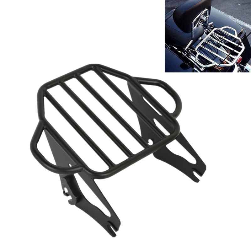 Chrome Detachable Stealth Luggage Rack For Harley Touring Road King 2009-2017