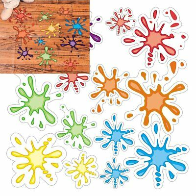 Paint Splatter Floor/Wondow Decals  (14 Pack) 3 1/4