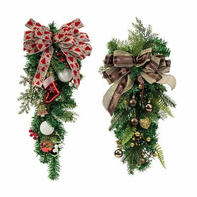 Christmas Wreath Decor For Xmas Holiday Party Door Wall Garland Flower Ornaments ()
