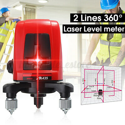 Ak435 360 Self-leveling Cross Laser Level Meter 2 Line 1 Point W Package Bag