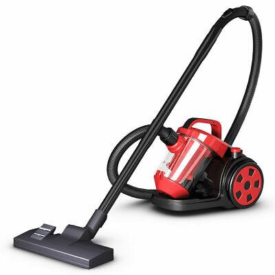 Vacuum Cleaner Canister Bagless Cord Rewind Carpet Hard Floor w HEPA Filtration ()