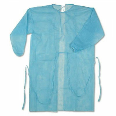 Disposable Blue Isolation Gown Cover Protection Standard - Full Case50