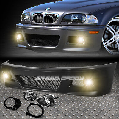 FOR 99 06 E46 3SERIES NON M M3 STYLE REPLACEMENT FRONT BUMPER BODY KITFOG LIGHT