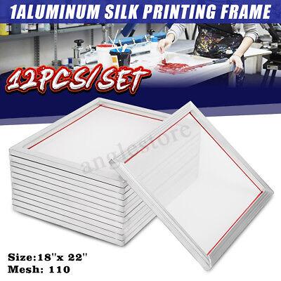 12 Pack 44x54cm Aluminum Silk Screen Printing Press Frame Screens 110 Mesh