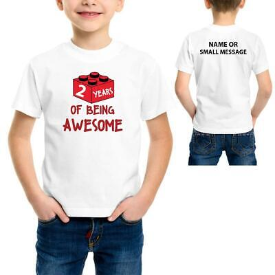 Awesome Blocks Theme 2 3 4 5 6 7 8 9 10 11 12 13 Years Birthday Party Perso