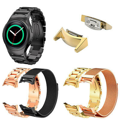 Loop Stainless Steel Watch Band + Connector For Samsung Galaxy Gear S2 RM-720