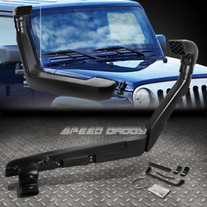 FOR 07-11 JK JEEP WRANGLER 3.8 V6 AIR SNORKEL BLACK ABS RAM INTAKE PIPE SYSTEM