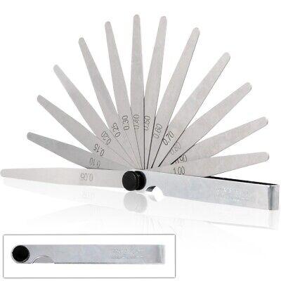 13 BLADE FEELER GAUGE 0.05mm-1mm Metric Ignition Spark Plug Component Gap Width
