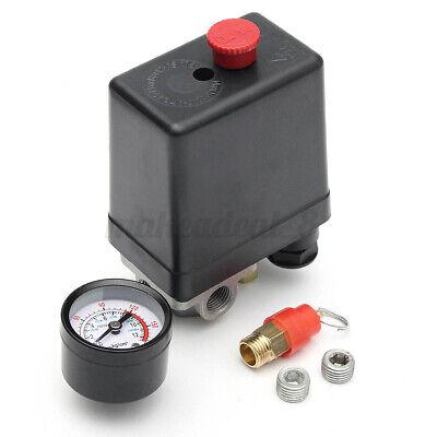 Air Compressor Pressure Switch Control Valve Regulator With Gauges 90-175 Psi